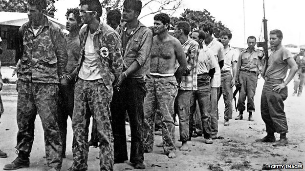 Cuban counter-revolutionaries after their capture in the Bay of Pigs, Cuba. April 1961