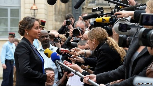 Segolene Royal speaks to the media after being appointed to the cabinet - 2 April 2014