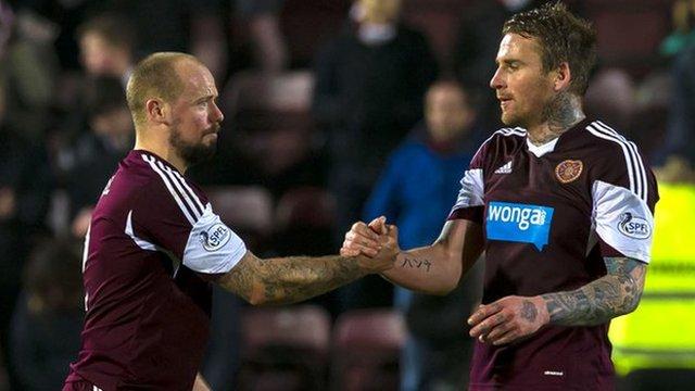 Jamie Hamill and Ryan Stevenson celebrate