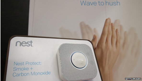Nest protect fire alarm with wave to hush ad