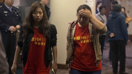 Relatives are eagerly waiting for information about the missing MH370 flight