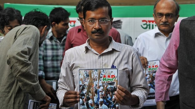Arvind Kejriwal says his party wants to put an end to corruption