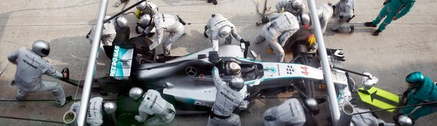 Lewis Hamilton says he has been left in awe at his Mercedes already this season