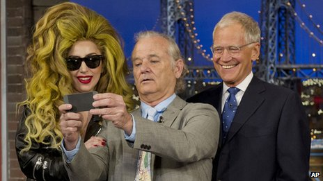 Lady Gaga, Bill Murray and David Letterman