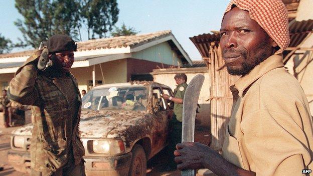Hutu militiamen in 1994