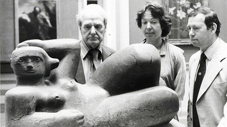 Henry Moore, his daughter Mary and Jeffrey Sherwin
