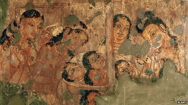 A point of view the sacred and sensuous in indian art for Ajanta mural painting