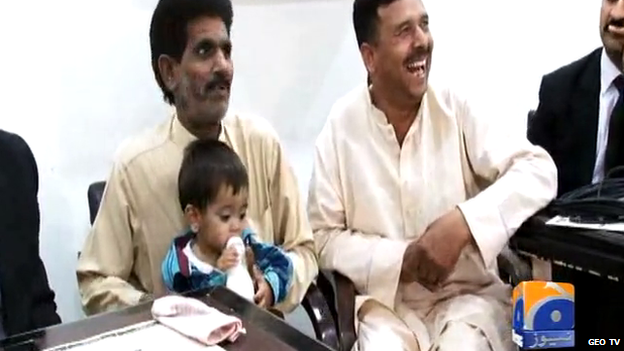 Infant in court in Pakistan