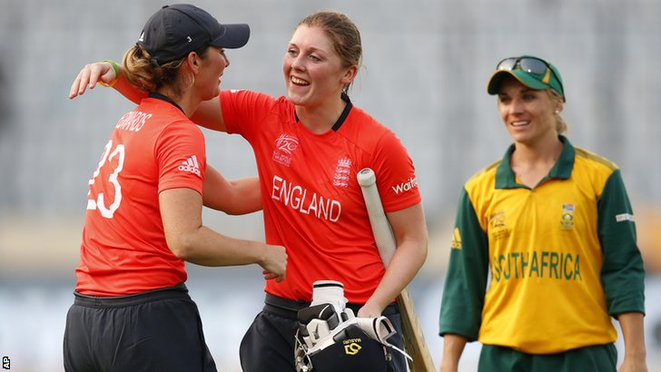 Charlotte Edwards, Heather Knight and Mignon du Preez