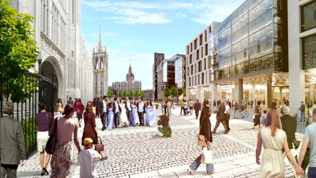 Artist's impression of Marischal Square
