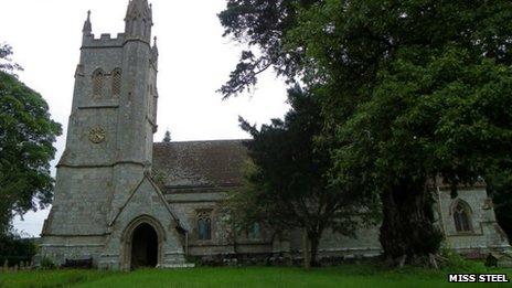 St Thomas' Church in Melbury Abbas