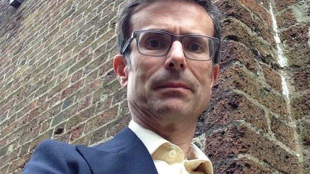 Robert Peston at Marshalsea debtors prison