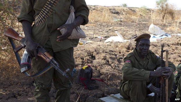 SPLA soldiers in Malakal