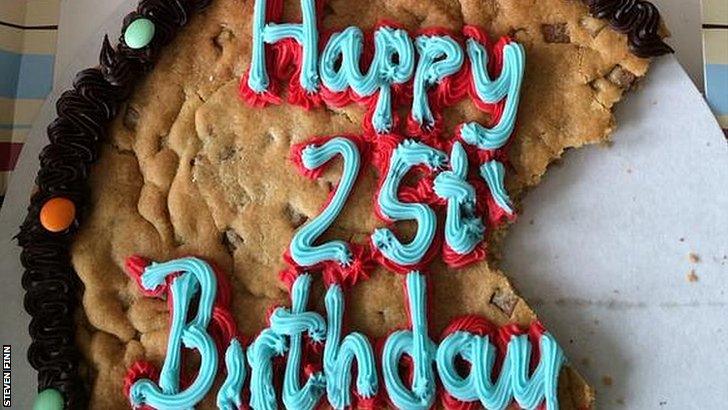 Steven Finn's birthday cake