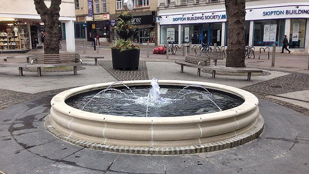Fountain on Northampton Market