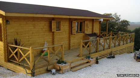 wooden holiday home