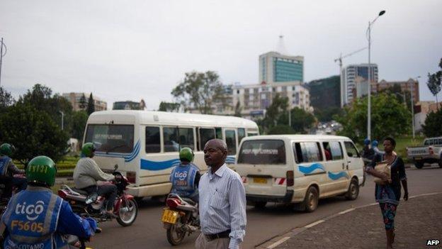 Kigali street scene