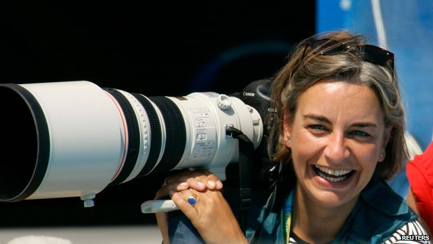 Anja Niedringhaus at the Athens Olympics in 2004