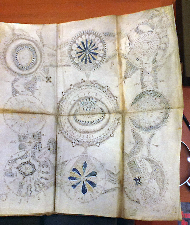 Some astrological-style designs from the Voynich Manuscript