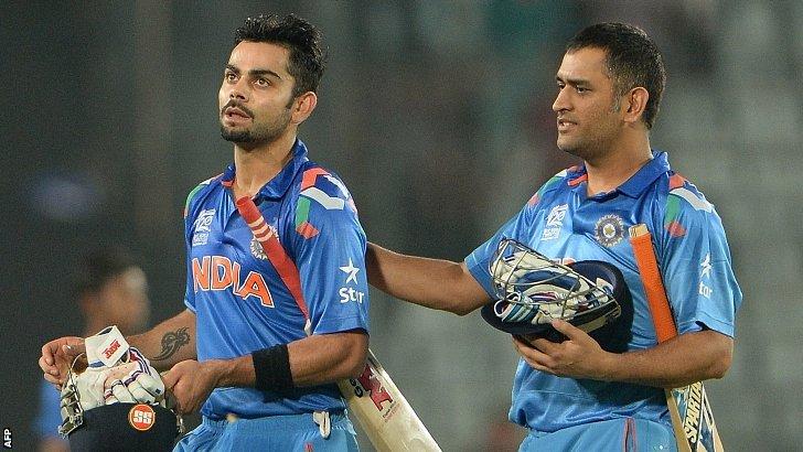 Virak Kohli and Mahendra Dhoni