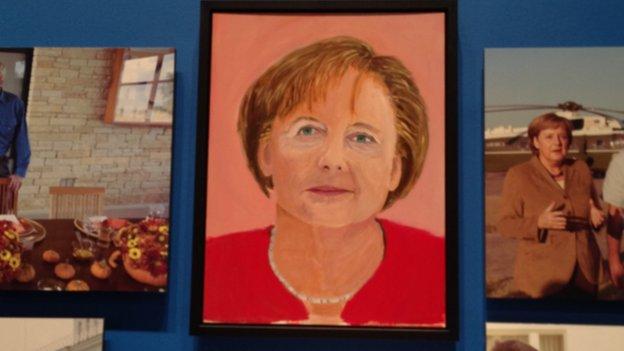 Portrait of Angela Merkel
