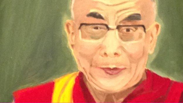 George W Bush portrait of the Dalai Lama