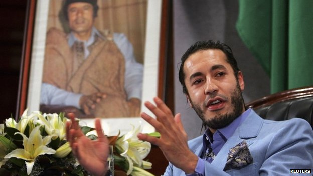 Saadi Gaddafi, the third son of former Libyan leader Muammar Gaddafi pictured in 2005