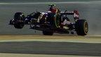 Bahrain Grand Prix: Woof! Maldonado does a wheelie