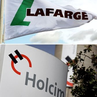 Logos for Lafarge and Holcim