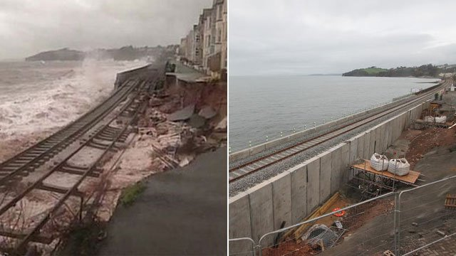 Dawlish - before and after