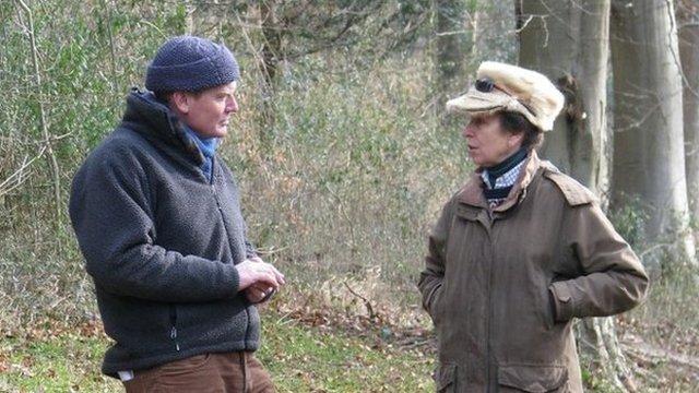 Tom Heap interviewing the Princess Royal