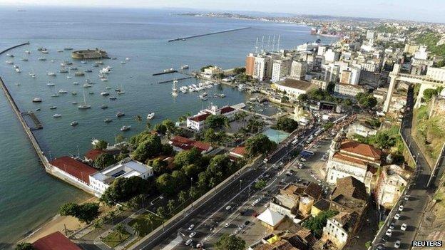 Salvador port area, Brazil