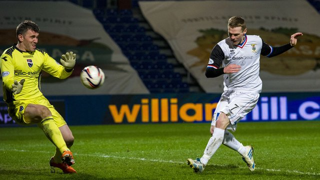 Billy McKay scores for Inverness against Ross County