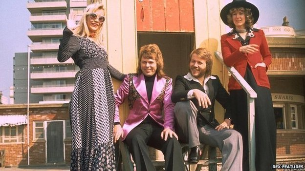 Abba on Brighton seafront after their win