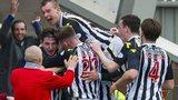 St Mirren celebrate