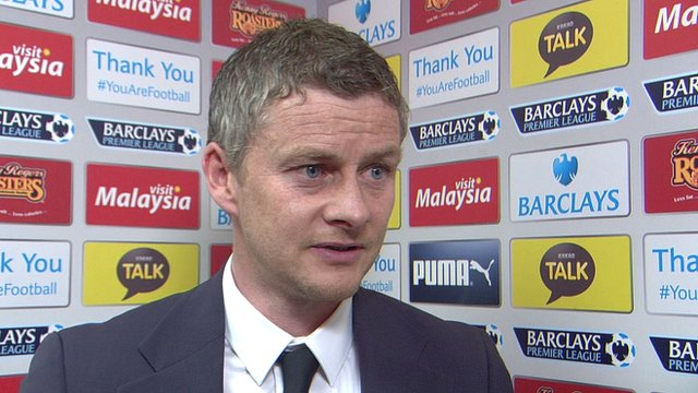 "Manager Ole Gunnar Solskjaer admits Cardiff ""ran out of ideas"""