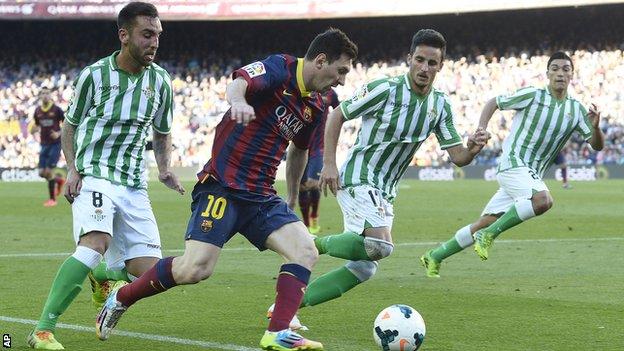 Barcelona v Real Betis - Lionel Messi