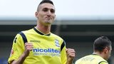 Federico Macheda celebrates one of his two goals