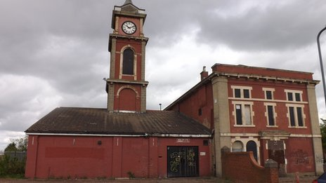 The old Town Hall in Middlesbrough
