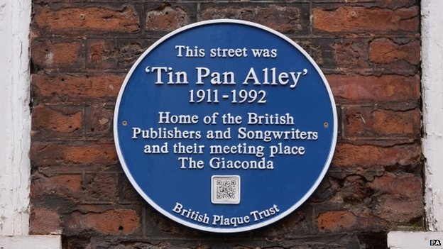 The Blue Plaque on Denmark Street