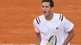 Great Britain's James Ward in the Davis Cup 2014