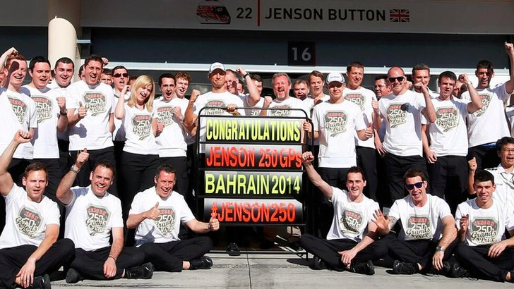 McLaren celebrate in Bahrain