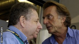 Jean Todt (left) and Ferrari president Luca Di Montezemolo