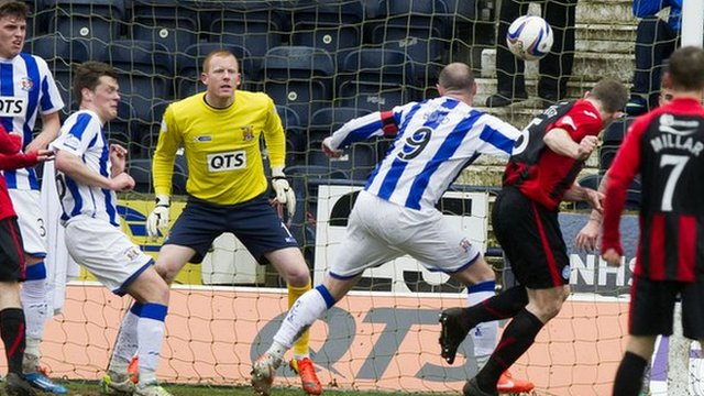 Frazer Wright scores for St Johnstone against Kilmarnock