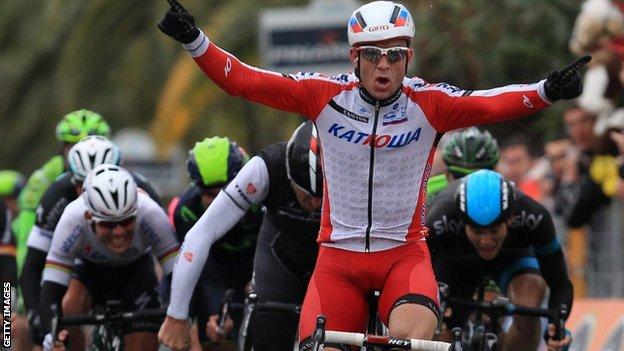 Alexander Kristoff wins Milan-San Remo