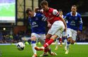 Wales midfielder Aaron Ramsey made his first appearance of the year after recovering from a thigh injury but Arsenal lost 3-0 at Everton.