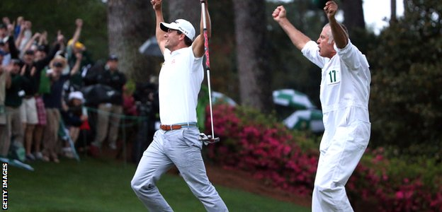 Adam Scott wins the 2012 Masters