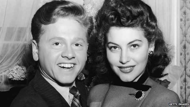Mickey Rooney and Ava Gardner (8 January 1942)
