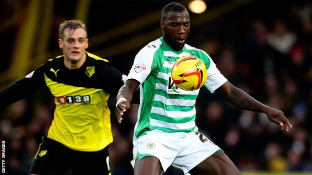 Ishmael Miller in action for Yeovil