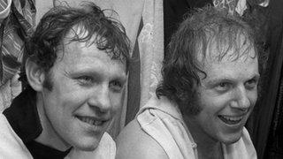 Ronnie Radford (left) and Ricky George, Edgar Street, February 1972